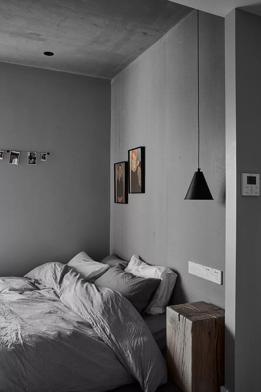 深灰色卧室装修效果图