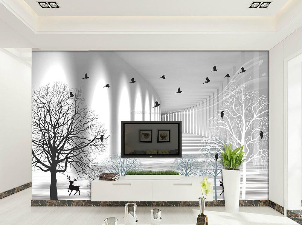 客厅电视背景墙壁纸