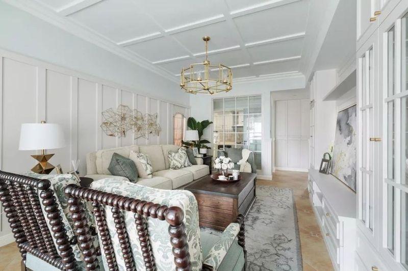 133平的美式轻奢风,还有超美的阳光房和露台!图片