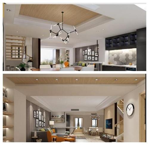 复式楼装修设计效果图 复式楼的新中式装修风格图片