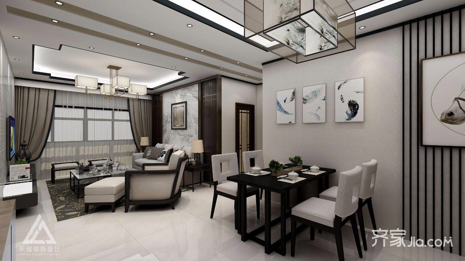 沙发背景墙格栅木质花格造型,搭配水墨纹天然石材,简洁,实用,轻奢风和图片