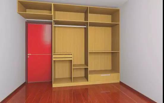 但内部的设计绝对是不合理的 衣柜内部留出大量的格子 不仅做不到分类