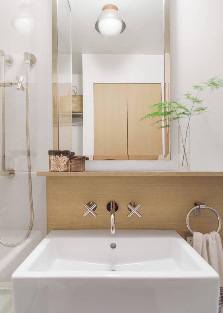 原木风的浴室装修,未免也太好看了吧!