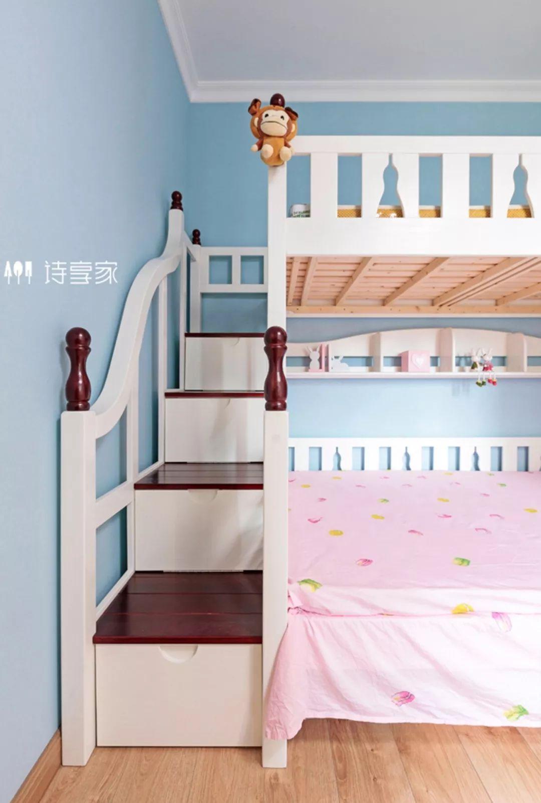 资讯 装修头条 自媒体 正文  儿童房采用粉蓝与粉红的配色 是小公主的