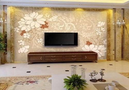 新中式电视背景墙效果图 5款精美电视墙让您家高大上图片
