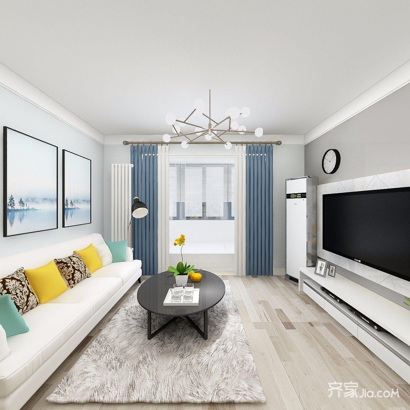 北京家庭装修效果图 现代风格别墅装修案例_齐家网