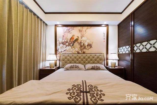 9万140平米中式四居室装修效果图,140新中式风格,!