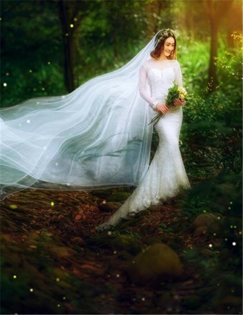 如何打造梦幻森系婚纱照 营造森林精灵般地完美