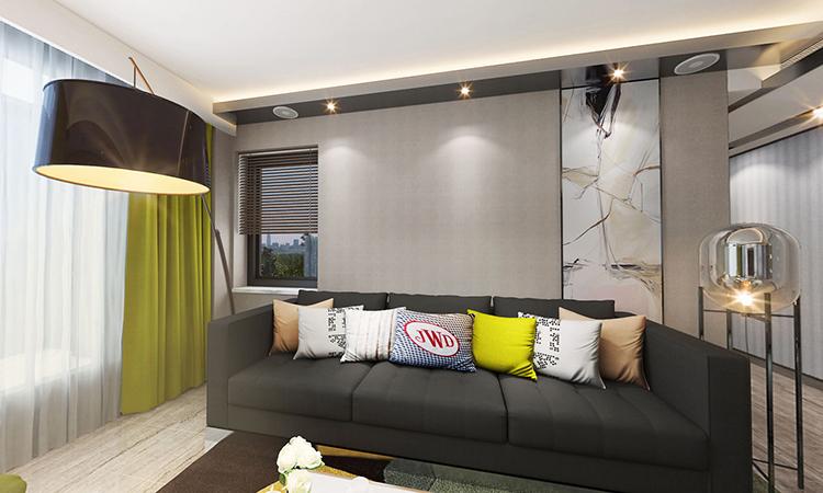 现代|客厅3D效果图