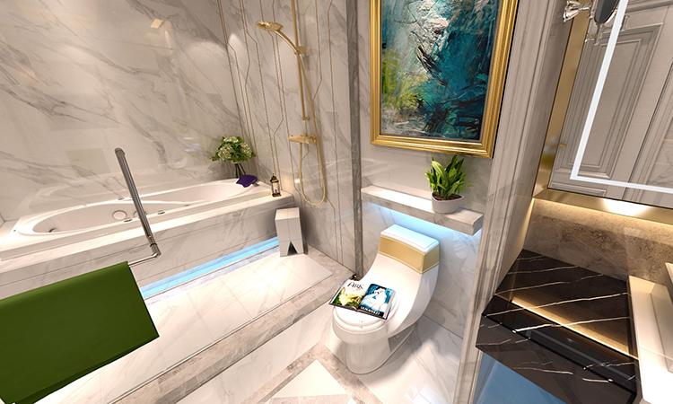 欧式|卫生间3D效果图