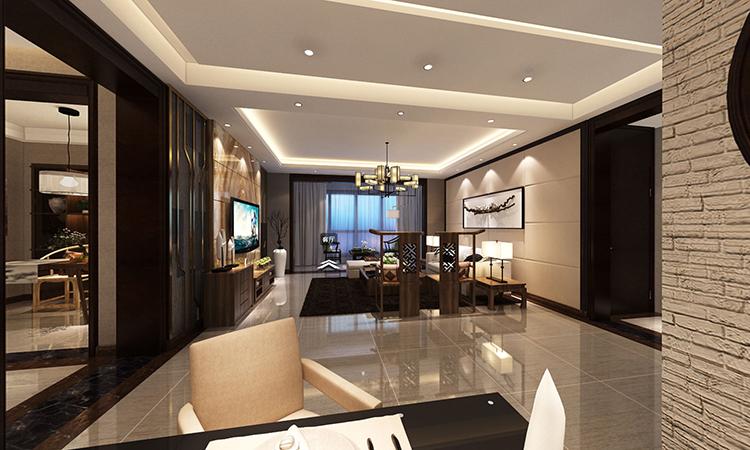 中式|客餐厅3D效果图
