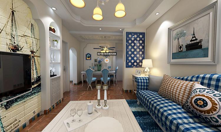 地中海|客餐厅3D效果图
