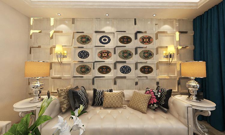 欧式|客厅3D效果图