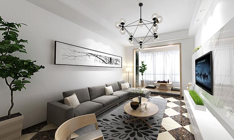 现代|客厅,餐厅3D效果图