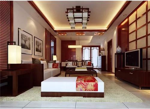中式客厅装修效果图 带你感受古典精美的客厅空间