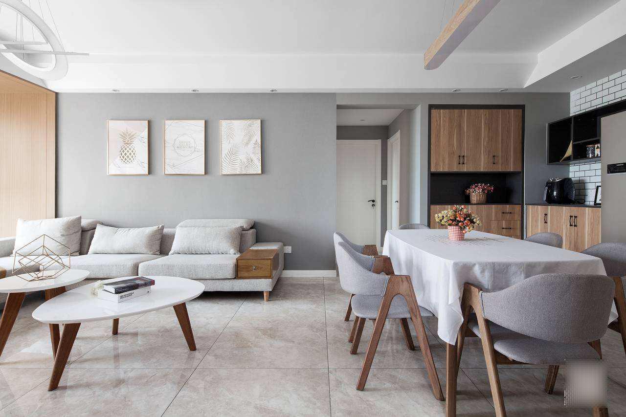 墙面的北欧风,它的石材肯定带有木质的感觉,而不会像现代简约风格那么图片