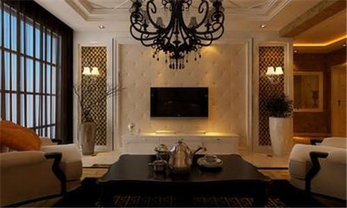 简欧风格电视墙效果图 电视墙装修类型图片