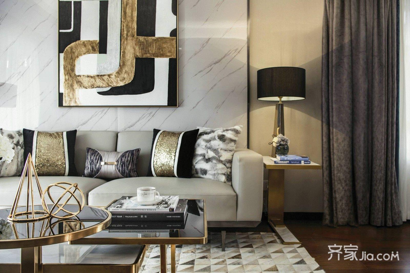 海伦国际四房美式轻奢装图片