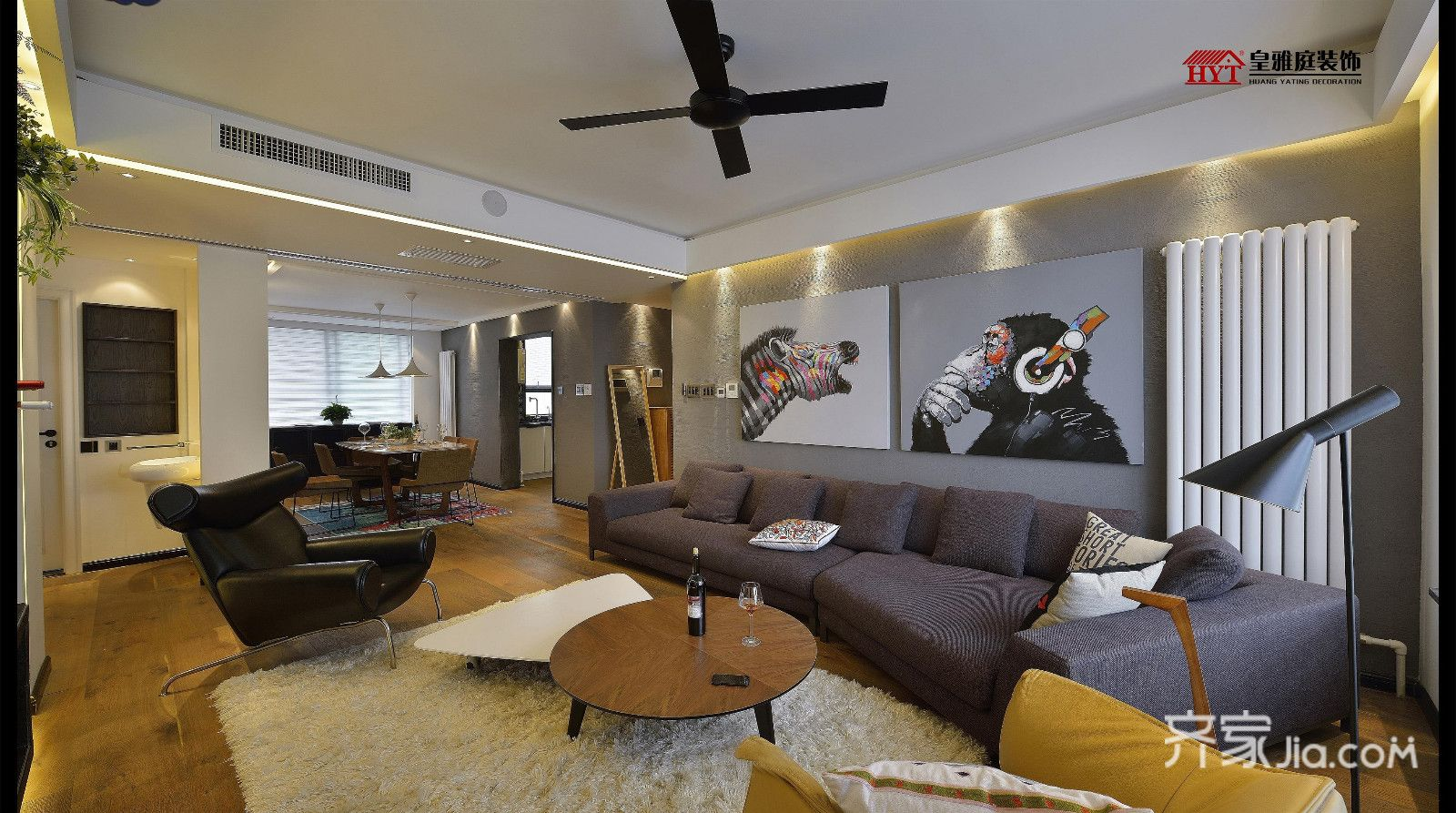 客厅运用创意设计手法凸出电视背景与吊顶造型的创意个性 客厅造型图片