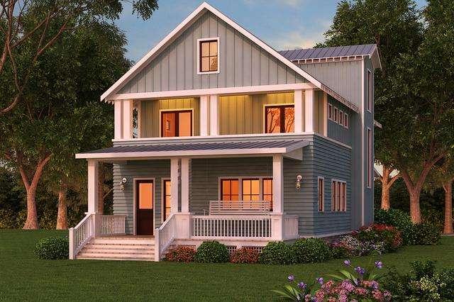 自建房怎么设计  2018新农村两层自建房图片欣赏图片