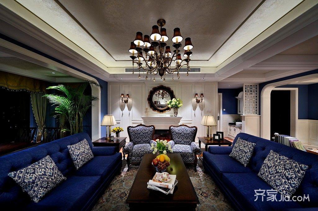 装修设计 成都装修 成都装修案例 富豪公馆   110㎡ 四居室 美式 富豪