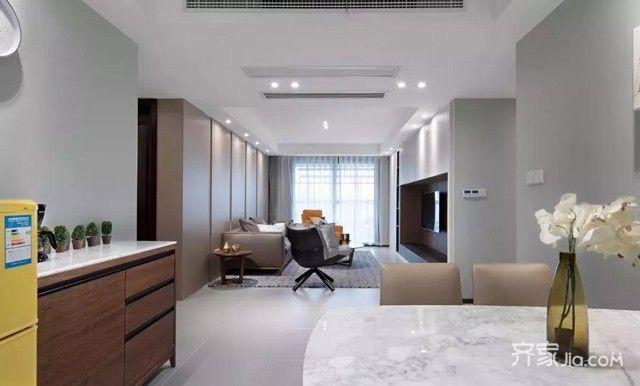 110平清新现代三室