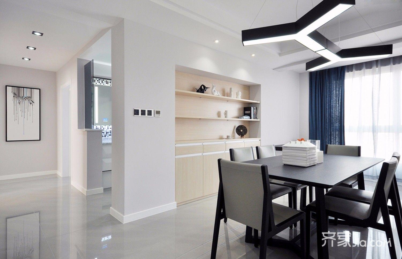 3万93平米简约三居室装修效果图,93平米现代简约图图片