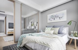北欧风公寓样板间卧室装修效果图