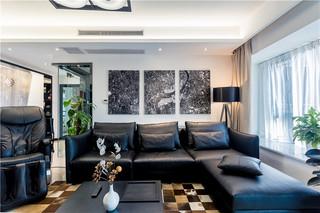 现代混搭风格二居室装修效果图