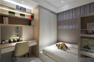 125平美式风格二居儿童房装修效果图图片