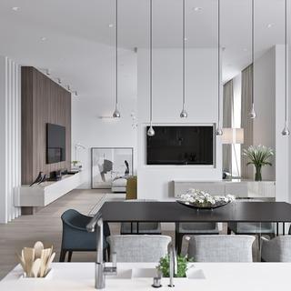 简约风格公寓装修设计效果图