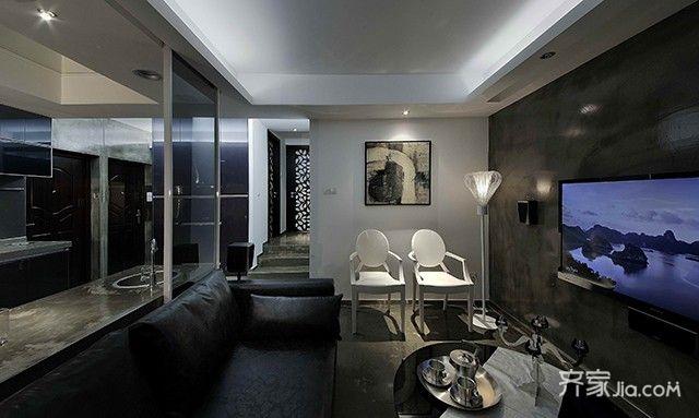 現代簡約一居室 (4)
