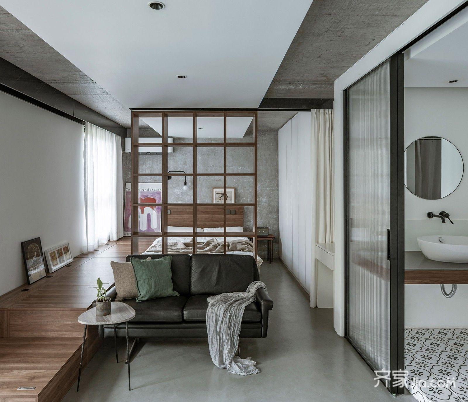 4万45平米现代小户型/一房装修效果图,房屋改造装修图