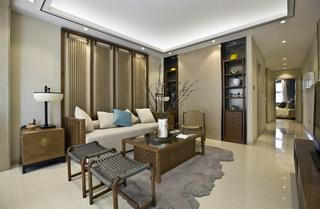 大户型现代简约样板间沙发背景墙装修效果图
