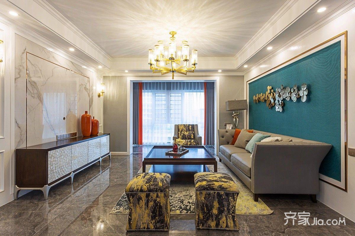 155平米輕奢美式三居室