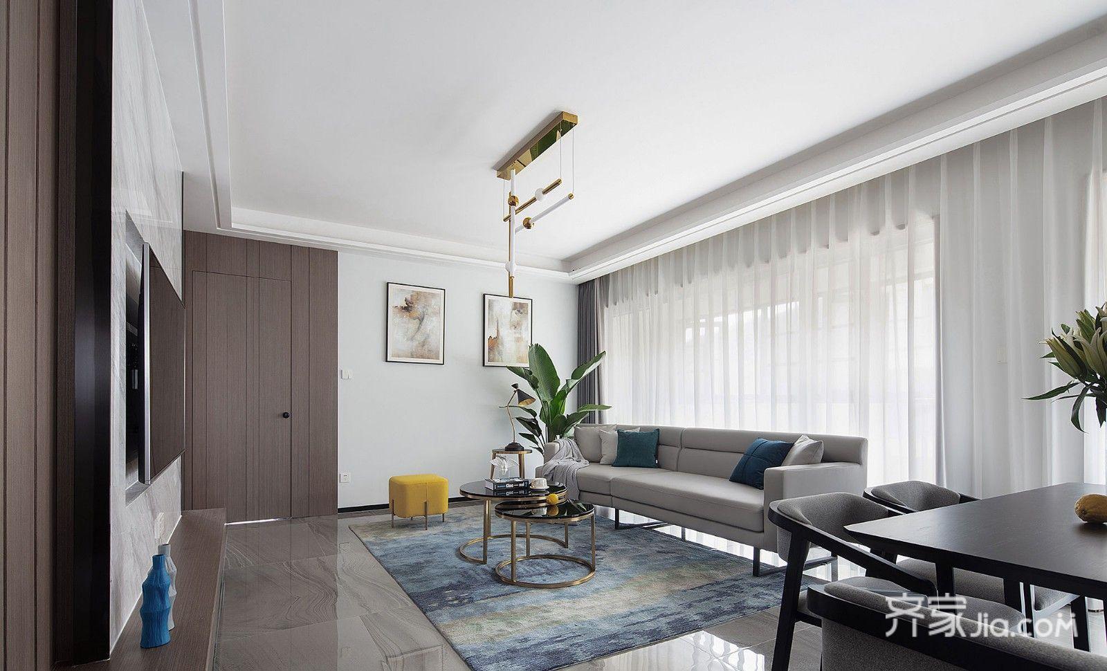 130平方米現代三居室