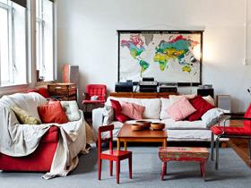 美式客厅样板间 23图造最美客厅