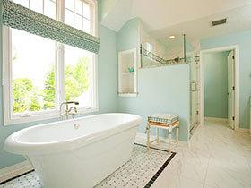 卫浴间的清新范儿  21款彩色卫生间设计