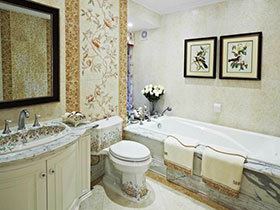 20种田园风卫浴间欣赏 洁具也可以很清新