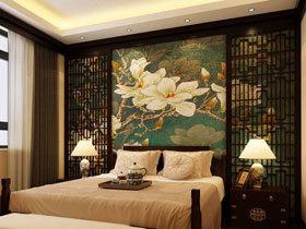 玩转中式小清新 16款中式卧室背景墙图