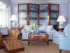 屏风VS山水画 15张中式沙发背景墙图片