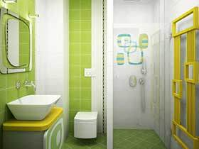 打造清新卫浴间 17张彩色洗手台图片