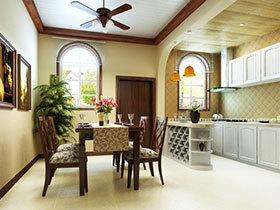 清新餐厅设计 15张彩色餐桌背景墙效果图