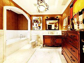 12张红色浴室柜效果图 时尚复古范儿