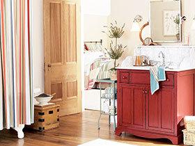 11张红色浴室柜设计图 时尚经典