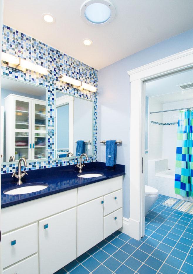 白色浴室柜设计图