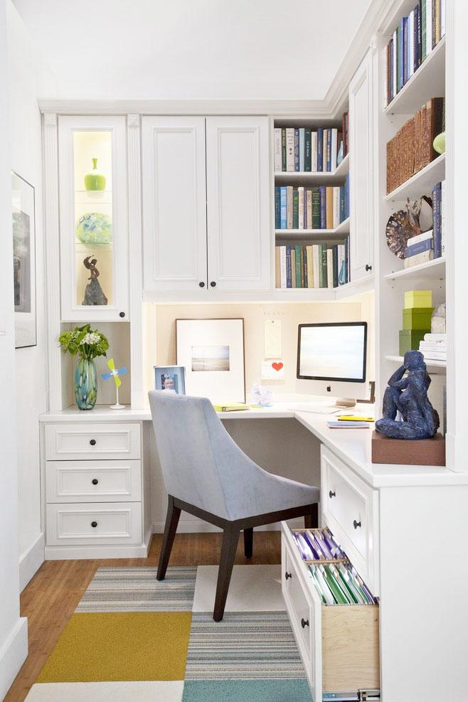 白色书柜设计图