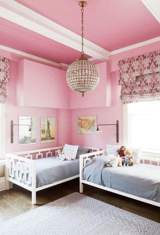 粉色吊顶设计图