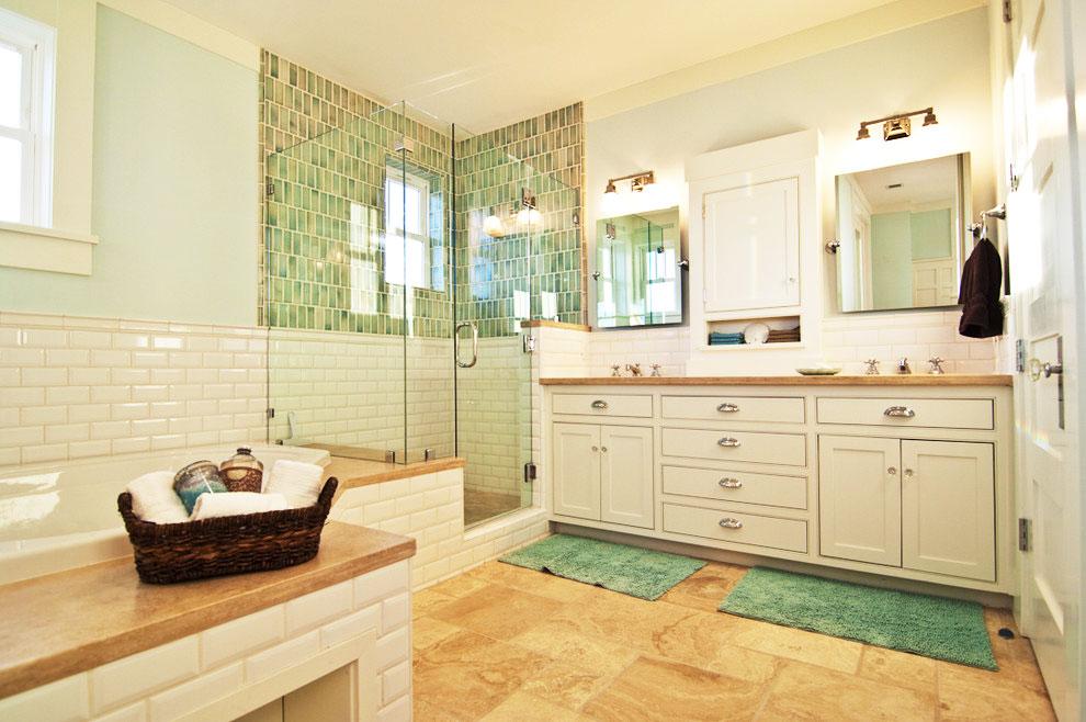 米色浴室柜设计图