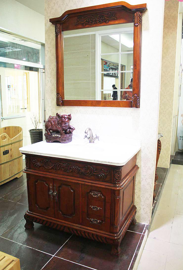 红色浴室柜设计图
